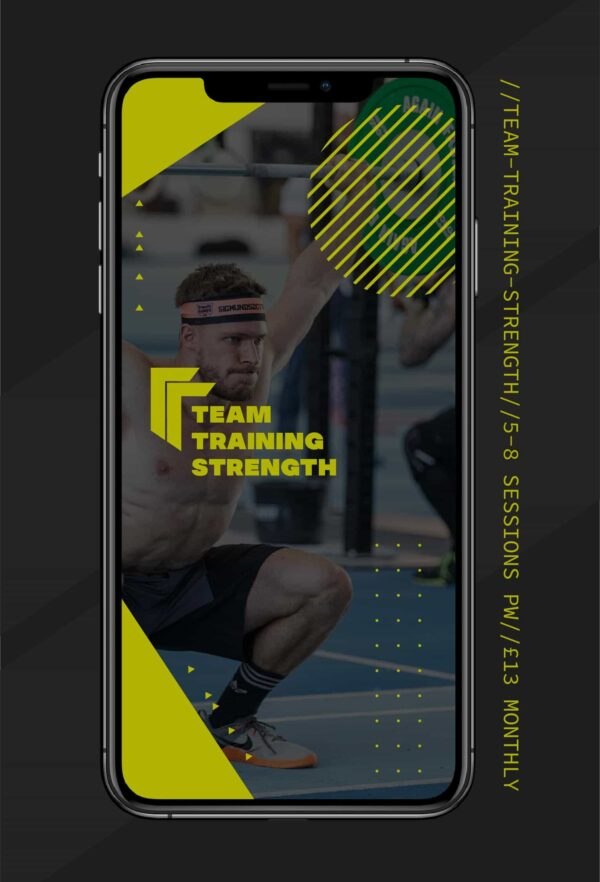 TEAM TRAINING PROGRAMME Fitness Training and CrossFit Programmes for athletes