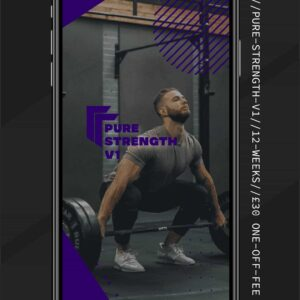 Pure Strength Training Progamme Become Stronger